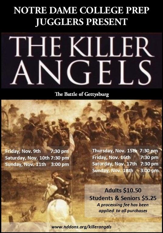 Gettysburg Academic Calendar.Donslink Jugglers Killer Angels The Battle Of Gettysburg Nov 9