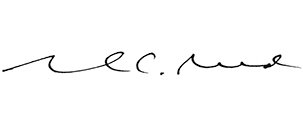 Signuature of Mark C. Reed, Ed.D., President of Saint Joseph's Univeristy